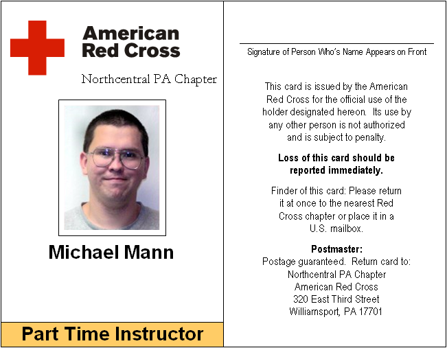 American Red Cross Instructor ID